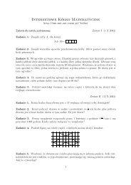 Internetowe Kółko Matematyczne