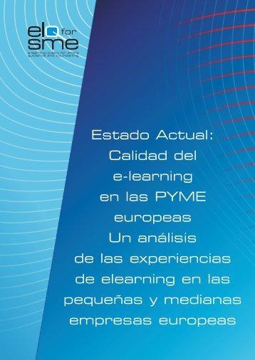 Estado Actual: Calidad del e-learning en las PYME europeas Un ...