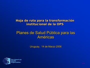 planes de salud pública para las