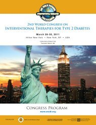 2nd World Congress on Interventional Therapies for Type 2 Diabetes
