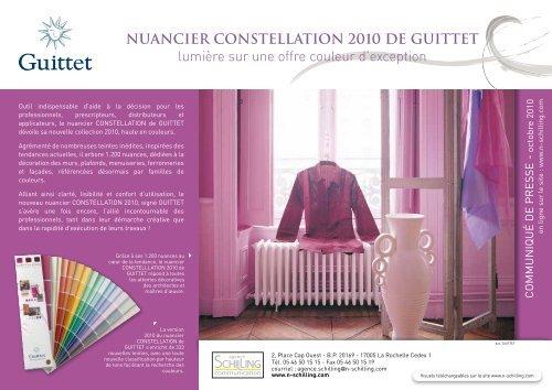 Nuancier Constellation 2010 De Guittet Lumière Sur Une Offre