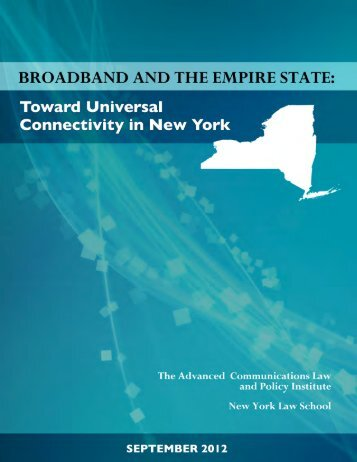 ACLP Report - NYS Broadband - New York State