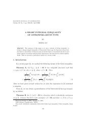 a sharp integral inequality of ostrowski-gr¨uss type - Soochow ...