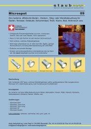 Microspot LED Effekt 09 - staub designlight ag