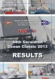 RESULTS - South of Perth Yacht Club