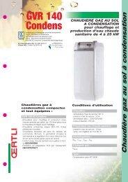 Chaudière gaz au sol à condensation - Oertli