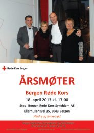 Årsmøtehefte 2012 - Røde Kors