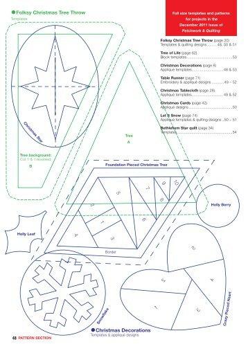 Pattern sheet - Traplet Publications