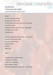 Letra: Fernando Pereira / Música