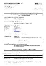 EU-SICHERHEITSDATENBLATT CK-MB, Reagenz 1 - diatools AG