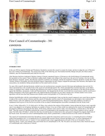 First Council of Constantinople - 381 - Laikos