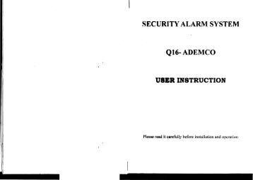 hills alarm system user manual