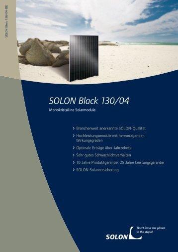 SOLON Black 130/04