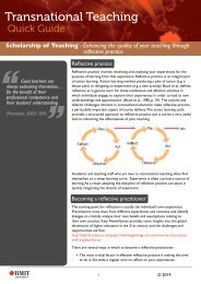 Enhancing the quality of teaching through reflective practice
