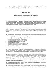 tekst natječaja - Grad Kastav