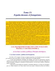 Tema 15: España durante el franquismo. - Instituto Bachiller Sabuco