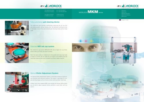 MORLOCK MKMseries Fully automated pad cleaning device