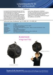 Datenblatt Lautsprechersysteme - Stratenschulte Messtechnik