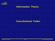 Information Theory Convolutional Codes - Public.fh-wolfenbuettel.de
