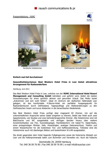 Die RIMC International Hotel Resort Management and Consulting ...