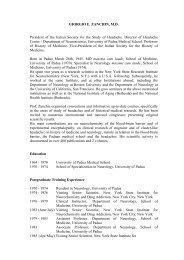 GIORGIO E. ZANCHIN, M.D. President of the Italian Society for the ...