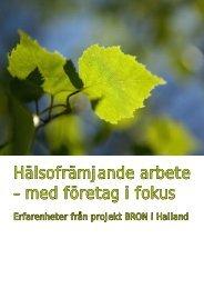 Hälsofrämjande arbete – med företag i fokus - Region Halland