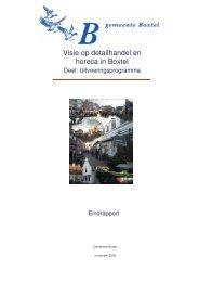 uitvoeringsprogramma detailhandel en horeca - Gemeente Boxtel