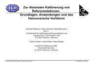 Grundlagen, Anwendungen und das Hannoversche Verfahren