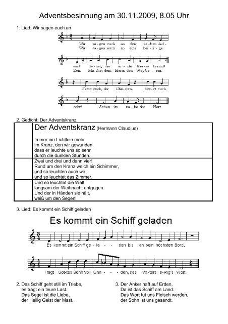 Der Adventskranz Hermann Claudius Nimm Drei
