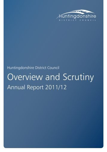 Overview and Scrutiny Annual Report 2011-12 - Huntingdonshire ...