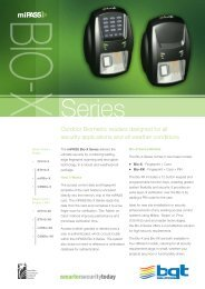 Outdoor Biometric readers designed for all ... - Zone Technology