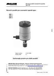 Návod k poušití pro reverzační aparát typu - EMUGE-FRANKEN ...