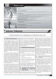 INFORME TRIBUTARIO.indd - Revista Asesor Empresarial