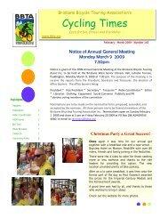 Feb - Mar 09 - Brisbane Bicycle Touring Association