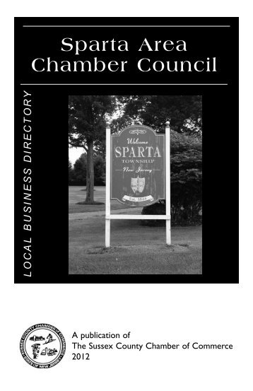 Sparta Directory Revised.qxd - Sussex County Chamber of Commerce