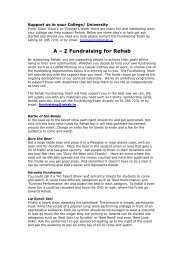 A-Z of Fundraising Ideas For Universities - Rehab Fundraising