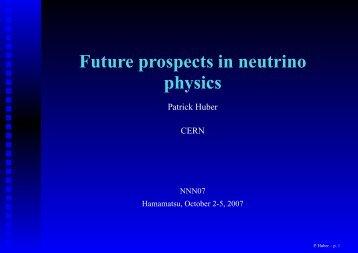 Future prospects in neutrino physics