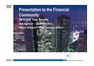 Presentation to the Financial Community - Energy Resources of ...
