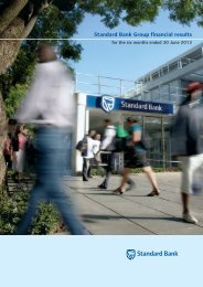 Overview of financial results - Standard Bank - Investor Relations