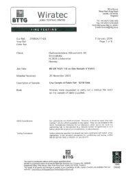 Odal Fire EN 1021-1 and 2 - Gudbrandsdalens Uldvarefabrik as