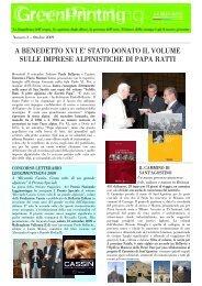 a benedetto xvi e' stato donato il volume sulle imprese ... - Bellavite
