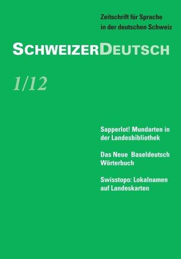 SchweizerDeutsch 1/12