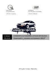vasaras autosprints 2012