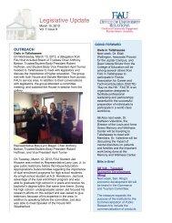 Legislative Update Vol. 1 Issue 9 - Florida Atlantic University ...
