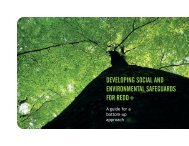 Developing Social and Environmental Safeguards for REDD+