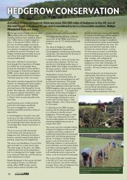 Hedgerow conservation - Forestry Journal