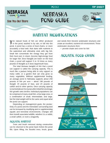 Habitat Modifications - Nebraska Game and Parks Commission