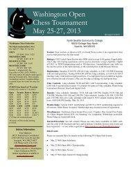 PDF ad/flyer - Northwest Chess!