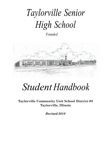 front cover - Taylorville Community Unit School District #3