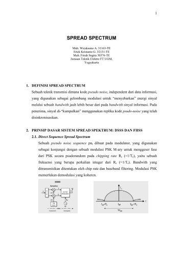 Spread Spectrum (2) - Teknik Elektro UGM